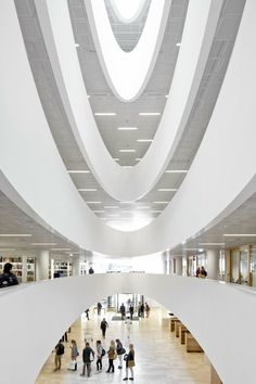 University of Helsinki City Campus Library - Helsinki , Finland by Anttinen Oiva Architects  The library was designed to offer a wide range of services flexibly to a large number of customers. This imposing building in the centre of Helsinki provides a gateway to the new information age.   #library #cultural #design #void