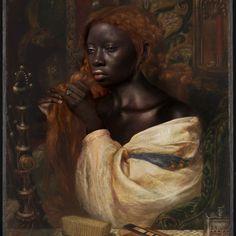 "Hoekagay🐝🔥🍬 on Instagram: ""Oluwakemi 1863 oil on canvas"" The Flowers Of Evil, Evil World, Amaterasu, Southern Gothic, Hogwarts Mystery, Black African American, Aphrodite, Macabre, Black Girl Magic"