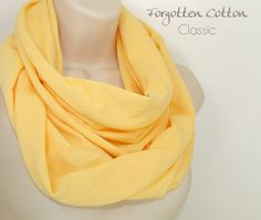 Shoply.com -Infinity Scarf Yellow Pastel Light. Only $20.00