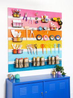 DIY Rainbow Peg Board