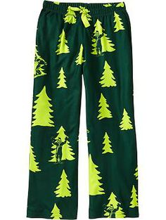 Boys Printed-Fleece Sleep Bottoms
