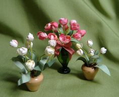 How to Make Miniature Items | ve been learning to make miniature flowers. These are made with ...
