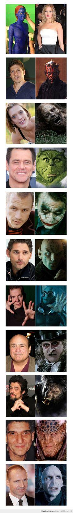 Bộ mặt thật của những dị nhân nổi tiếng, liệu bạn có biết ai trong số họ ???