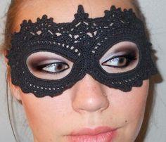 crochet lack masquerade mask