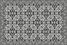 Carpet no. 6 by Marcel Wanders Black White Rug, Interior Design Studio, Rugs On Carpet, Carpets, Damask, Crochet, Cool Designs, Marcel, Contemporary