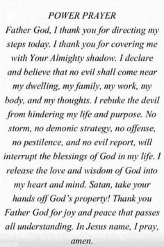 Power prayer More