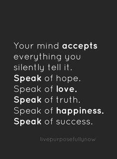 Create the mindset of success