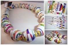 Necklace | 31 Things You Can Make Out Of Cereal Boxes