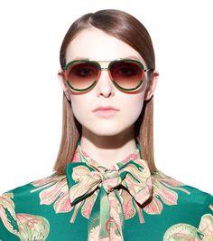 5e7e501dd Gucci Aviator Sunglasses with Red/Green Frame $298 Aviator Glasses, Eye  Glasses, Gucci