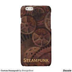 Custom Steampunk Glossy iPhone 6 Case