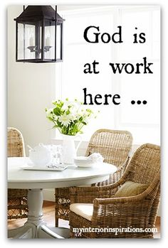God Is at Work Here ... 7 Habits of a Happy Household