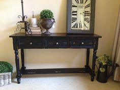black hall table hallway new black brown timber console hall table sideboard country french provincial ebay hallway decorating the 10 best hall table images on pinterest hall halle and cabinets