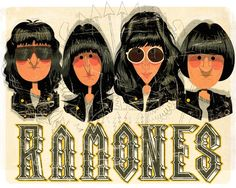 ramones ilustracao Ramones, Rock N Roll Baby, Rock And Roll, Music Illustration, Illustrations, Filles Punk Rock, Punk Rock Girls, Rock Cover, Picture Albums