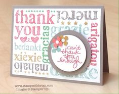 A World of Thanks, Lovely Amazing You, Stampin' Up!, Brian King, FabFri67