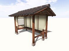 Japanese Koshikake Garden Shelter - Yokaze