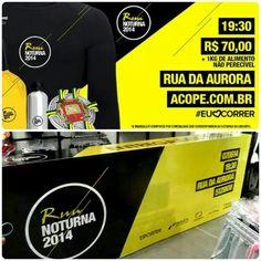 Os kits da Run Noturna estão sendo entregues até 22h na Paquetá Esportes