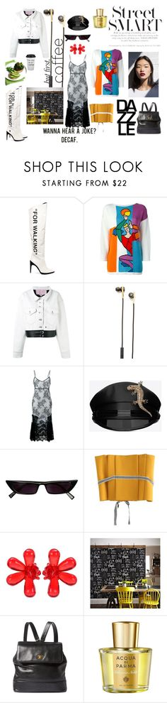 """""""Wild animal on the loose"""" by maariavld ❤ liked on Polyvore featuring Off-White, JC de Castelbajac, Alyx, Caeden, Yves Saint Laurent, Simone Rocha, Graham & Brown, Chanel, Acqua di Parma and Kale"""