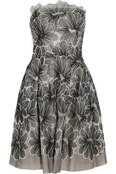 beautiful for a wedding Floral-embroidered tulle dress #dress #women #covetme #lelarose