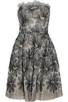 Floral-embroidered tulle dress #dress #women #covetme #lelarose