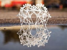Artist Theo Jansen has created several printed models of his famous walking sculptures called Strandbeests. There are currently four different models and two alternate propeller attachments for added Strandbeest goodness. Available over at Shapeways. Land Art, Art Du Temps, 3d Cnc, Digital Fabrication, Kinetic Art, 3d Prints, Dutch Artists, Gadgets And Gizmos, Science Art