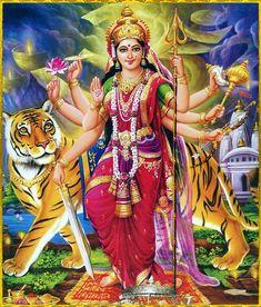 Navratri Puja will help you overcome all your negativities. Flourish with wealth on this Navratri by offering Homam to Lakshmi, Saraswathi & Durga. Durga Picture, Maa Durga Photo, Maa Durga Image, Lord Durga, Durga Maa, Shiva Shakti, Lord Shiva, Navratri Puja, Durga Images
