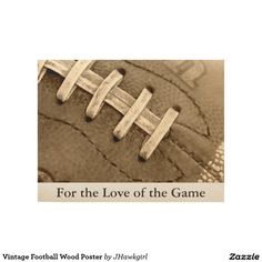 Vintage Football Wood Poster