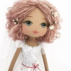 gallery of recent handmade keepsake dolls & bespoke doll creations by Upper Dhali BESPOKE DOLL Tink Fairy is the newest edition to the whimsical Dollhouse Collection - an enchanting assortment of special edition keepsake doll Dusty Rose Hair, Dusty Pink, Grilling Gifts, Light Rays, Rose Quartz Crystal, Angels In Heaven, Pink Sequin, Doll Hair, Pink And Gold
