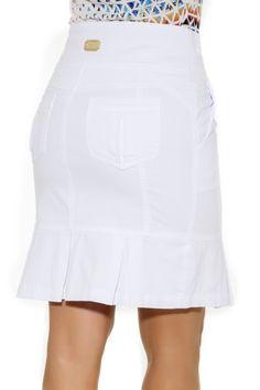 Saia Pregas No Barrado Moda Evangélica - Via Tolentino Pretty Dresses, Dresses For Work, Mini Skirts, Victoria, Plus Size, Blazer, Shorts, Chic, My Style