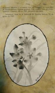 Reyes  Muñoz: Composición floral para libro. Reyes Muñoz