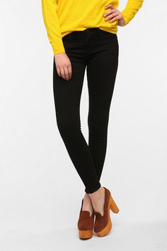 #UrbanOutfitters          #Women #Bottoms           #bdg #twig #mid-rise #5-pocket #spandex #pre #thigh #hip #fitted #skinny #jean #stretch #leg #fit #super #high #black             BDG Twig Mid-Rise Jean - Black                      Overview:* 5-pocket jean cut super skinny from BDG* Our skinniest fit; sits just above the hip* Fitted through the hip and thigh; super skinny leg* Added spandex for stretch and movement* Tapered through the super skinny leg with a high rise* In pre…