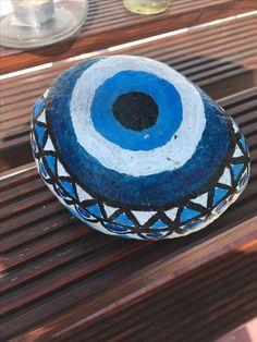 Mashala  the blue eye!  painting stone