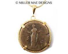 Etsy :: Your place to buy and sell all things handmade Ancient Roman Coins, Ancient Romans, Greek Sun God, Gold Coin Necklace, Antique Coins, Gold Coins, Silver Diamonds, Solid Gold