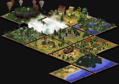 57 modèles de plateaux de jeu avec plusieurs niveaux d'évolution pour chacun.