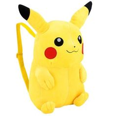 Buy Pokemon 13 inch Plush Backpack - Pikachu at Wish - Shopping Made Fun Pikachu, Rucksack Bag, Backpack Bags, Pokemon Backpack, Pokemon Bag, Yellow Backpack, Black Pokemon, Converse, Shoulder Strap Bag