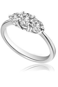 Art Deco Starburst Diamond Trilogy Ring in Platinum and 9k Gold