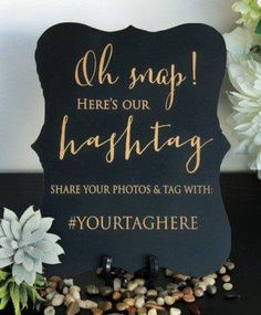 Smallwoods - WEDDING DECOR - Custom Wedding Hashtag Sign