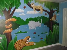 #Jungle #mural http://www.custommurals.co.uk
