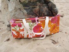 Orange and Pink Yoga Tote Bag $45