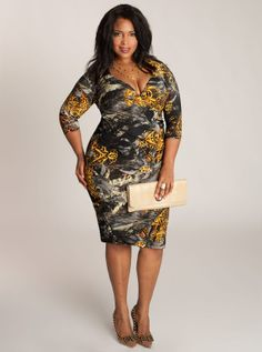 Choose a dress with bold print that will camouflage all the imperfections of your body