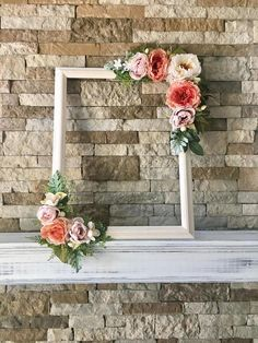 """This beautiful customized 18"""" x 24"""" floral photo prop frame AKA selfie frame is perfect to use for any rustic style wedding, birthday party, bridal shower baby shower and more! It is made of a 18""""x 24"""" frame and plenty of silk flowers/greenery so its beauty will last a lifetime! Use it for your wedding, then use it as home decor and then use it for your baby shower!! CUSTOMIZE TO YOUR COLOR! MAKES A WONDERFUL KEEPSAKE OF YOUR SPECIAL DAY!"""