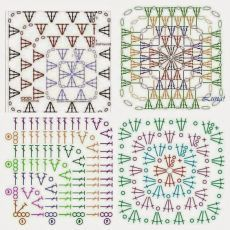 Discover thousands of images about Crochet motif chart patterncrochet square pattern Crochet Bedspread Patterns Part 17 - Beautiful Crochet Patterns and Knitting Patterns - Crochet Bedspread Patterns Part Granny Square Rose SThis Pin was di Crochet Motifs, Crochet Blocks, Granny Square Crochet Pattern, Crochet Diagram, Crochet Stitches Patterns, Crochet Squares, Crochet Chart, Crochet Granny, Granny Squares