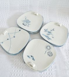 Set of 8 Sushi plates or Appetizer plates by GraceYourNest on Etsy, $16.00