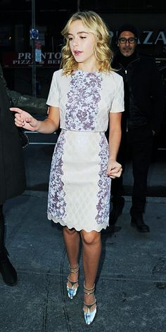 Style icon-in-the-making Shipka appeared on the Today show in nude-and-purple mixed-print Honor separates with scalloped edges, adding some ...