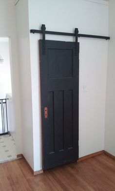 Barn door slider for closet.