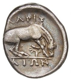 Dracma - argento - Larissa, Tessaglia a. Greek History, Roman History, Ancient History, Berlin Museum, Ancient Persia, Coin Art, Gold And Silver Coins, Antique Coins, Ancient Greece