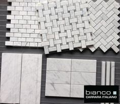 Italian Carrara Bianco Marble Tiles and Mosaics available in Honed and Polished from the Builder Depot starting at $7.50 a square foot for field tile and $11.75 a square foot for mosaics.