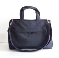 Sale - Water-Resistant Bag in Black- messenger bag, tote, purse, everyday bag, handbag - ANNIE by tippythai on Etsy https://www.etsy.com/listing/179919711/sale-water-resistant-bag-in-black