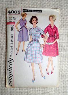 Vintage Pattern Simplicity 4003 1960s by momandpopcultureshop