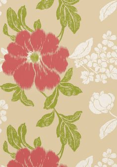 RUE DE SEINE, Pink on Beige, AT34139, Collection Zola from Anna French