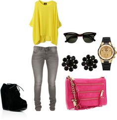 """""""A Pop of Pink"""" by als5774 on Polyvore"""